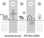 ecology power concept. new... | Shutterstock .eps vector #497813584