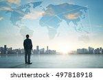 international business concept... | Shutterstock . vector #497818918