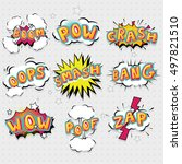 comic effects lettering set... | Shutterstock .eps vector #497821510