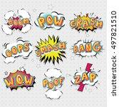 comic effects lettering set...   Shutterstock .eps vector #497821510