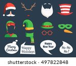 christmas decoration collection ... | Shutterstock .eps vector #497822848