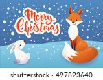 christmas vector card with... | Shutterstock .eps vector #497823640