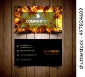 abstract light elegant business ... | Shutterstock .eps vector #497824609