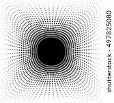halftone effect vector... | Shutterstock .eps vector #497825080