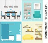 apartment set. apartment... | Shutterstock . vector #497825134