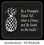 stylized pineapple vector... | Shutterstock .eps vector #497826628