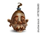 happy halloween head monster...