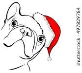 french bulldog portrait in a... | Shutterstock .eps vector #497829784