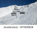 A Chairlift In Mountain Ski...
