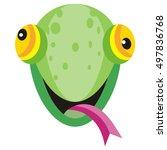 lizard cartoon sticker.... | Shutterstock .eps vector #497836768