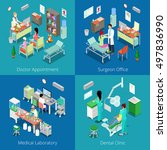 isometric hospital interior.... | Shutterstock .eps vector #497836990
