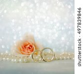 wedding rings | Shutterstock . vector #497839846