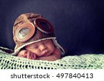 sweet little baby dreaming of... | Shutterstock . vector #497840413