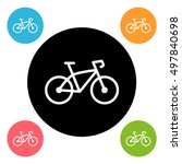 round bike icon | Shutterstock .eps vector #497840698