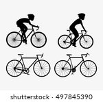 bike and cyclist icons image  | Shutterstock .eps vector #497845390