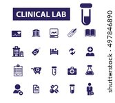 clinical lab icons | Shutterstock .eps vector #497846890
