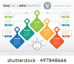 infographic with design... | Shutterstock .eps vector #497848666