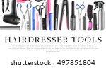 different professional... | Shutterstock . vector #497851804