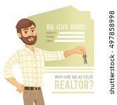 concept of real estate services.... | Shutterstock .eps vector #497858998