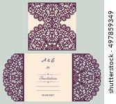 wedding invitation or greeting... | Shutterstock .eps vector #497859349