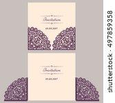 wedding invitation or greeting... | Shutterstock .eps vector #497859358