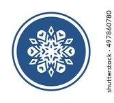 vector snowflake logo element ...   Shutterstock .eps vector #497860780