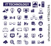 it technology icons   Shutterstock .eps vector #497862196