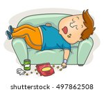 illustration of an overweight... | Shutterstock .eps vector #497862508