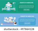 robotic surgery banners set of... | Shutterstock .eps vector #497864128