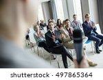 business people applauding for...   Shutterstock . vector #497865364