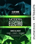 modern electro music party... | Shutterstock .eps vector #497866696