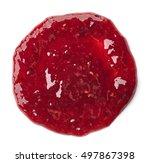 round spot of raspberry jam... | Shutterstock . vector #497867398