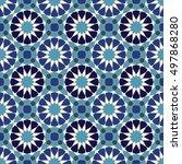 geometric background.  seamless ... | Shutterstock .eps vector #497868280