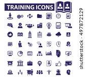 training icons | Shutterstock .eps vector #497872129