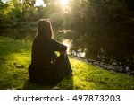 relaxing day along the river... | Shutterstock . vector #497873203