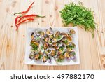 Steamed Clams On White Square...