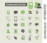 communication icons | Shutterstock .eps vector #497882290