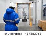 staff worker control in...   Shutterstock . vector #497883763