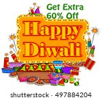 light festival of india happy... | Shutterstock .eps vector #497884204