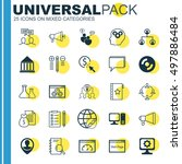 set of 25 universal icons on... | Shutterstock .eps vector #497886484