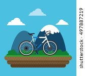 bike and cyclist icons image  | Shutterstock .eps vector #497887219