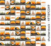 Collage Picture Of Sushi Set....