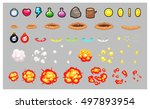 miscellaneous items game... | Shutterstock .eps vector #497893954