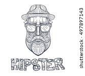 ornate hipster print  adult... | Shutterstock . vector #497897143