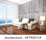 modern bright interior . 3d... | Shutterstock . vector #497900719