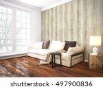 modern bright interior . 3d... | Shutterstock . vector #497900836