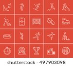 winter sport sketch icon set... | Shutterstock .eps vector #497903098