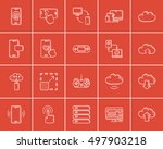 technology sketch icon set for... | Shutterstock .eps vector #497903218