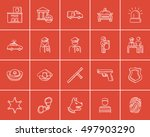 police sketch icon set for web  ... | Shutterstock .eps vector #497903290