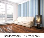 modern bright interior . 3d... | Shutterstock . vector #497904268